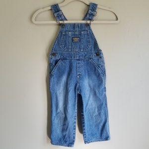 OshKosh B'gosh 2T Blue Jean Overalls